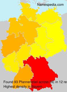 Surname Pfannenstiel in Germany