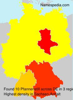 Surname Pfannenstill in Germany