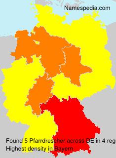 Surname Pfarrdrescher in Germany