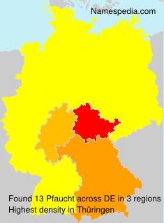 Surname Pfaucht in Germany