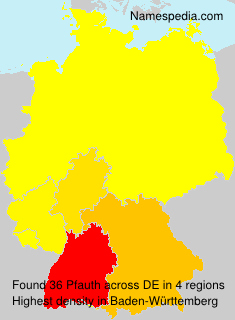 Surname Pfauth in Germany
