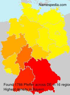 Surname Pfeffer in Germany