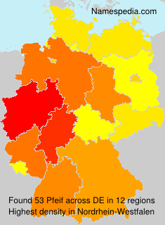 Surname Pfeif in Germany