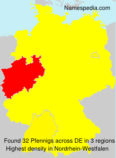 Surname Pfennigs in Germany