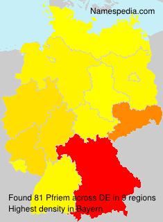 Familiennamen Pfriem - Germany