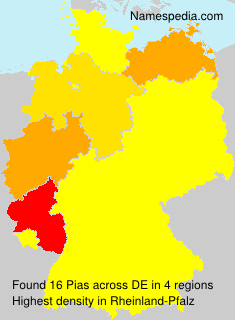 Surname Pias in Germany