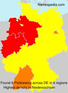 Surname Pietkiewicz in Germany