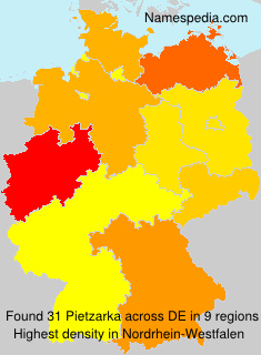 Surname Pietzarka in Germany