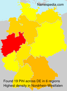 Surname Pihl in Germany