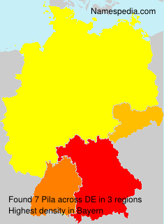 Surname Pila in Germany
