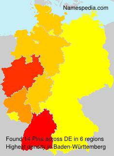 Familiennamen Pina - Germany