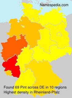 Familiennamen Pint - Germany