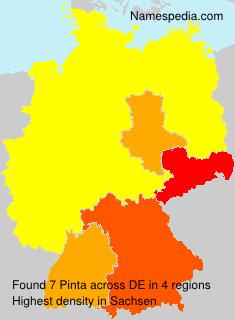 Surname Pinta in Germany