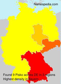 Surname Pisko in Germany