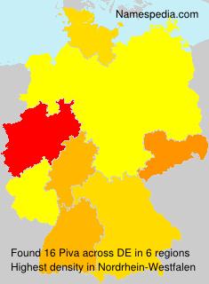 Surname Piva in Germany