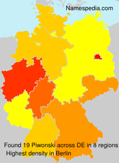 Surname Piwonski in Germany