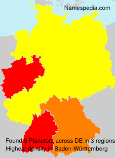 Familiennamen Planetorz - Germany
