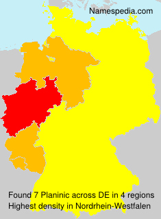 Surname Planinic in Germany