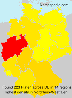 Surname Platen in Germany