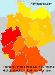 Surname Platz in Germany