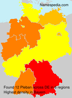 Surname Pleban in Germany