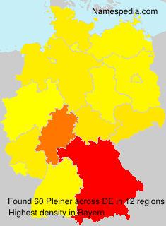 Surname Pleiner in Germany