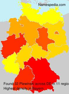 Familiennamen Plewinski - Germany