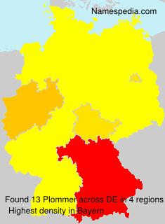 Familiennamen Plommer - Germany