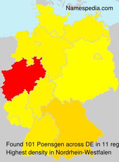 Familiennamen Poensgen - Germany