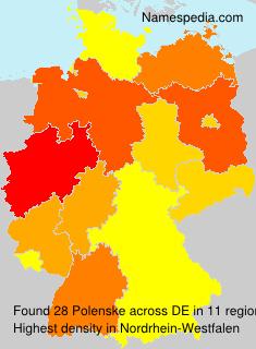 Familiennamen Polenske - Germany