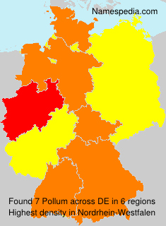 Surname Pollum in Germany