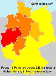 Surname Pomorski in Germany