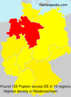 Surname Popken in Germany