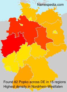 Familiennamen Popko - Germany