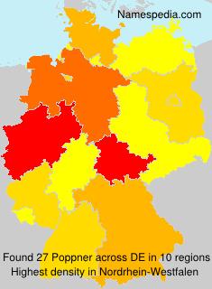 Surname Poppner in Germany