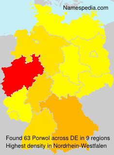 Surname Porwol in Germany
