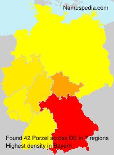 Surname Porzel in Germany