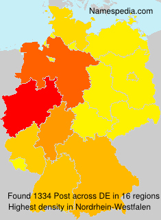 Surname Post in Germany