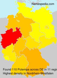 Familiennamen Potempa - Germany