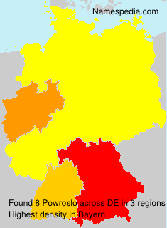 Surname Powroslo in Germany