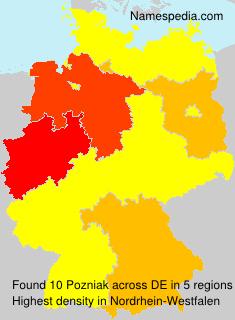 Surname Pozniak in Germany