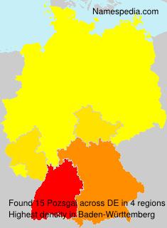Surname Pozsgai in Germany