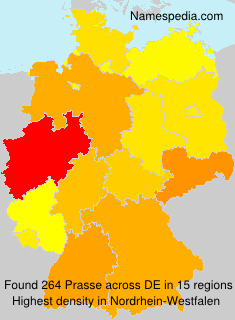 Surname Prasse in Germany