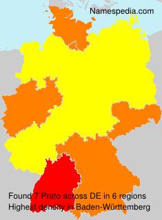 Familiennamen Prato - Germany