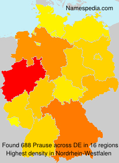 Surname Prause in Germany