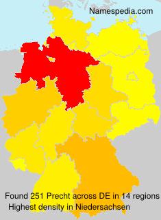 Familiennamen Precht - Germany