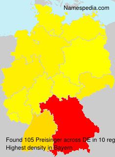 Surname Preisinger in Germany