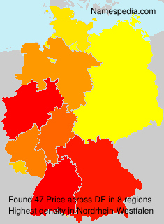 Familiennamen Price - Germany