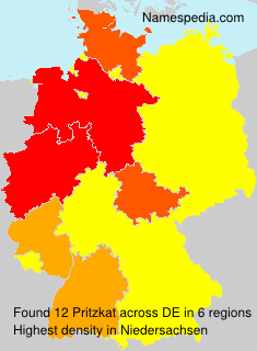 Surname Pritzkat in Germany