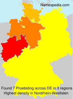 Surname Proebsting in Germany